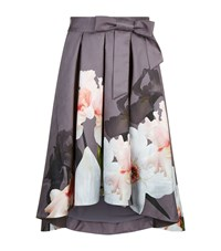 Ted Baker Thali Midi Skirt Grey