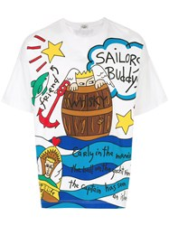 Jc De Castelbajac Vintage Sailor T Shirt White