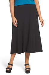 Eileen Fisher Plus Size Women's Stretchy Jersey Flare Midi Skirt