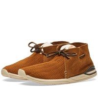 Visvim Huron Mesh Moc Folk Brown