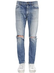Saint Laurent 15Cm Skinny Mid Rise Cotton Denim Jeans