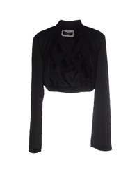 Caractere Topwear Shrugs Women Black
