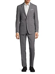 Tallia Orange Mason Slim Fit Wool Suit Grey