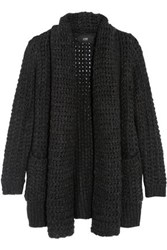 Line Barclay Open Knit Cardigan Charcoal