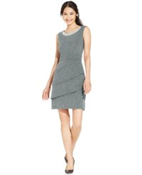 Connected Embellished Tiered Dress Gray