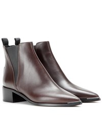 Acne Studios Jensen Leather Ankle Boots Brown