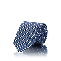 Sartorio Striped Silk Necktie Navy