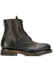 Rocco P. Worn Out Effect Boots Black