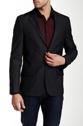 Perry Ellis Slim Jacquard Jacket Black