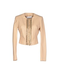 Elisabetta Franchi Gold Coats And Jackets Jackets Women Beige