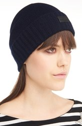 Saint Laurent Women's Cashmere Beanie Blue Navy