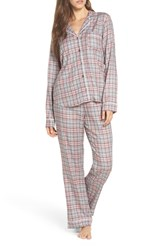 Ugg Raven Plaid Pajamas Parfait Pink Plaid