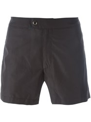 Jil Sander Lateral Striped Swim Shorts Black
