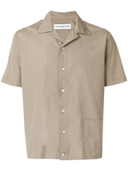Department 5 Short Sleeve Fitted Shirt Nude And Neutrals