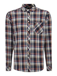 Army And Navy Killington Long Sleeved Check Shirt Navy