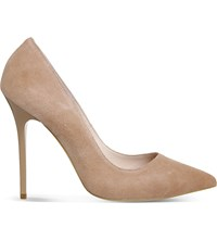 Office Onto Suede Court Shoes Nude Kid Suede
