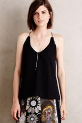 Anthropologie Lace Line Camisole Black
