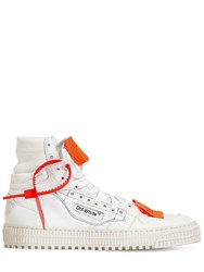Off White 20Mm Court Leather Sneakers White