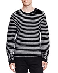 The Kooples Merino And Leather Sweater Black