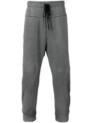 Lost And Found Ria Dunn Drop Crotch Joggers Men Cotton Linen Flax Spandex Elastane Xl Grey