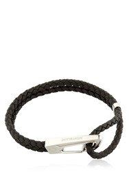 Montblanc Steel And Leather Bracelet