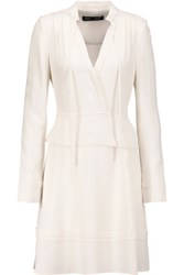 Proenza Schouler Tiered Crepe Dress Off White