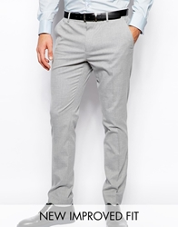 Asos Skinny Fit Suit Trousers In Grey