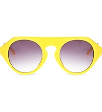 Prabal Gurung Yellow Acetate Sunglasses