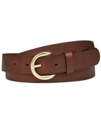 Inc International Concepts Riveted Leather Pants Belt Only At Macy's Cognac