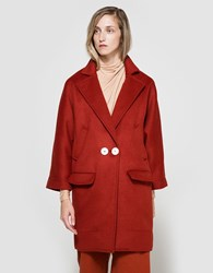 Frankie Wool Slouchy Overcoat Red