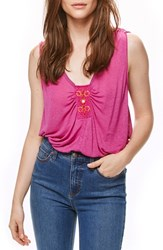 Free People Women's New Vibes Tank Pink