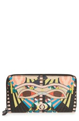 Givenchy Men's Cleopatra Print Zip Around Faux Leather Wallet