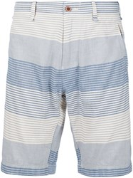 Alex Mill Striped Knee Shorts Blue