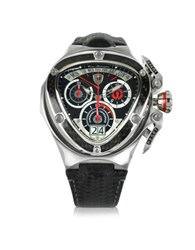 Lamborghini Red And Silver Stainless Steel Spyder Chronograph Watch