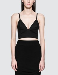 Alexander Wang Garment Washed Cotton Twill Bra