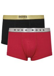 Boss Cotton Boxer Briefs Red