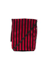 Ann Demeulemeester Striped Satchel In Red Black Red Black