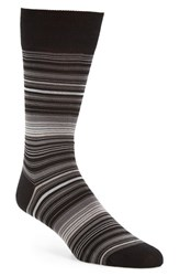 Bugatchi Men's 'Alternating Thin Stripe' Socks