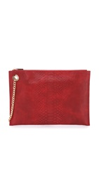 Deux Lux Embossed Promise Pouch Red