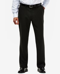 Haggar Eclo Mini Plaid Straight Fit Dress Pants Black