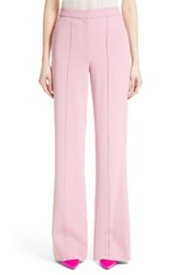 Adam By Adam Lippes Women's Stretch Cady Wide Leg Trousers Pink