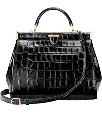 Aspinal Of London The Dockery Small Embossed Leather Handbag Black