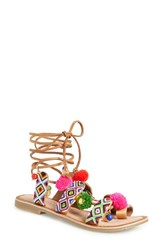 Women's Chinese Laundry 'Posh' Embellished Lace Up Sandal