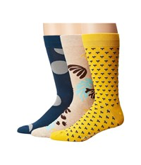 Richer Poorer Crew Yellow Teal Oatmeal Men's Crew Cut Socks Shoes Multi