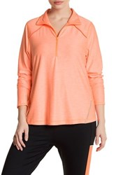 Z By Zella Front Zip Sweater Plus Size Orange