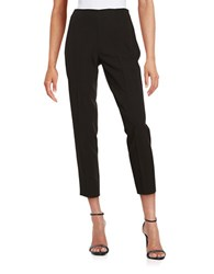 Tommy Hilfiger Flat Front Cropped Trousers Black