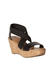 White Stuff Isabeau Elasticated Wedge Black