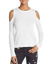 Alice Olivia Wade Cold Shoulder Sweater Off White
