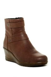 Keen Kate Leather Wedge Bootie Brown