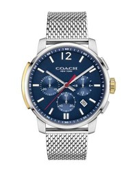 Coach 42Mm Bleecker Chronograph Watch With Bracelet Silver